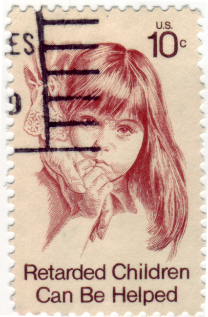 FileRetarded Children Can Be Helped Postage Stamp