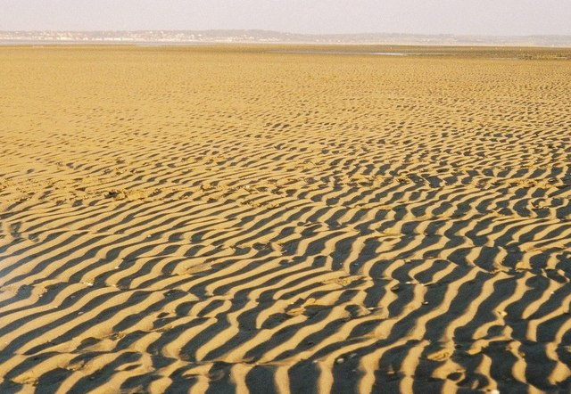 Ripples in the sand - geograph.org.uk - 484175