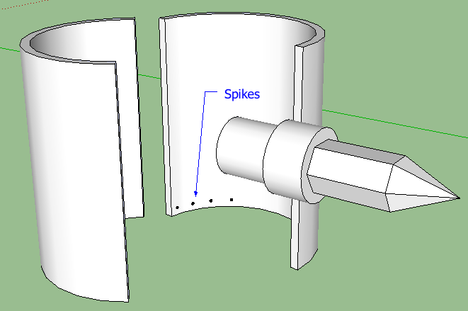 sketch of sleeve for emergency connection of underwater riser pipes
