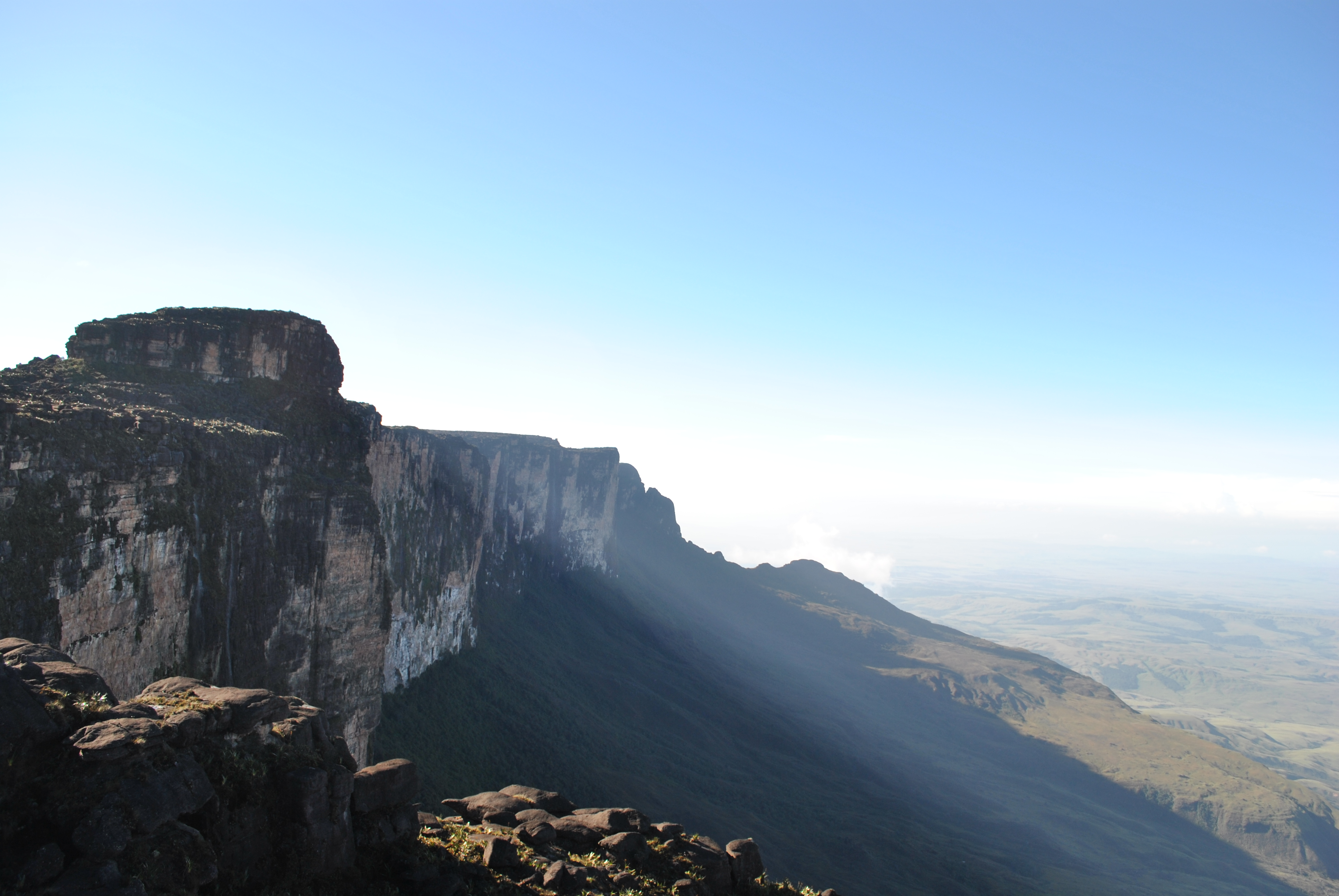Beautiful Rolling Clouds Lie On Top Of Mount Roraima