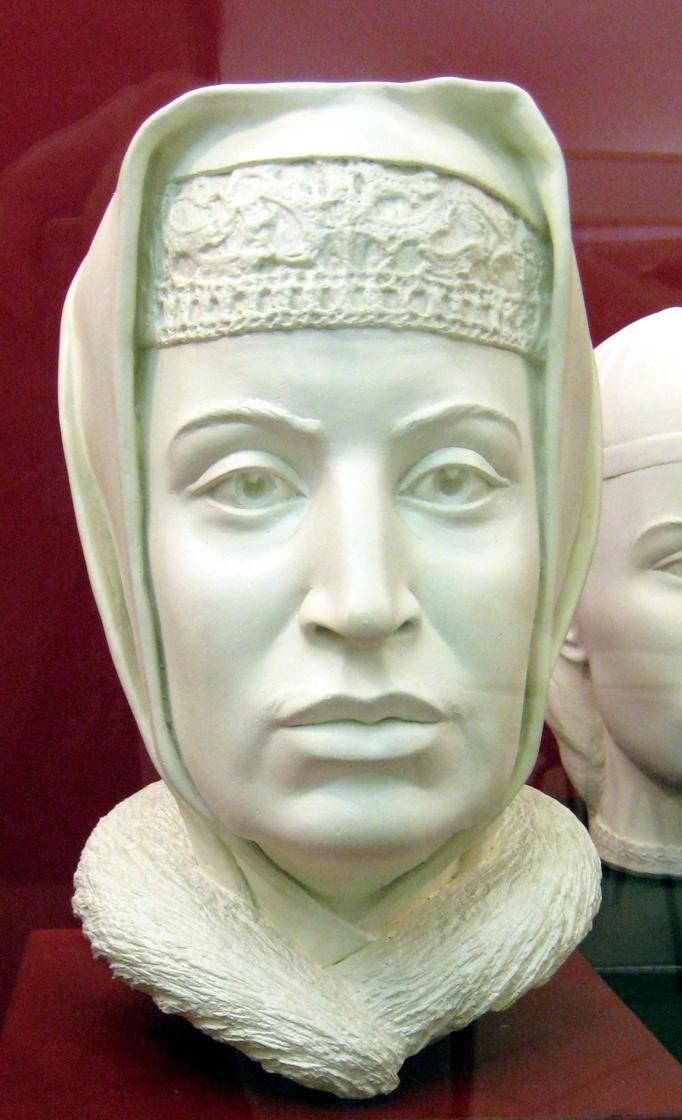 Sophia Paleolog (Palaiologos). Forensic facial reconstruction by S.Nikitin, 1994.