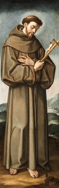 54edf691178 Francisco de Asís en la pintura de Francisco Pacheco (Museo de Bellas Artes  de Sevilla).