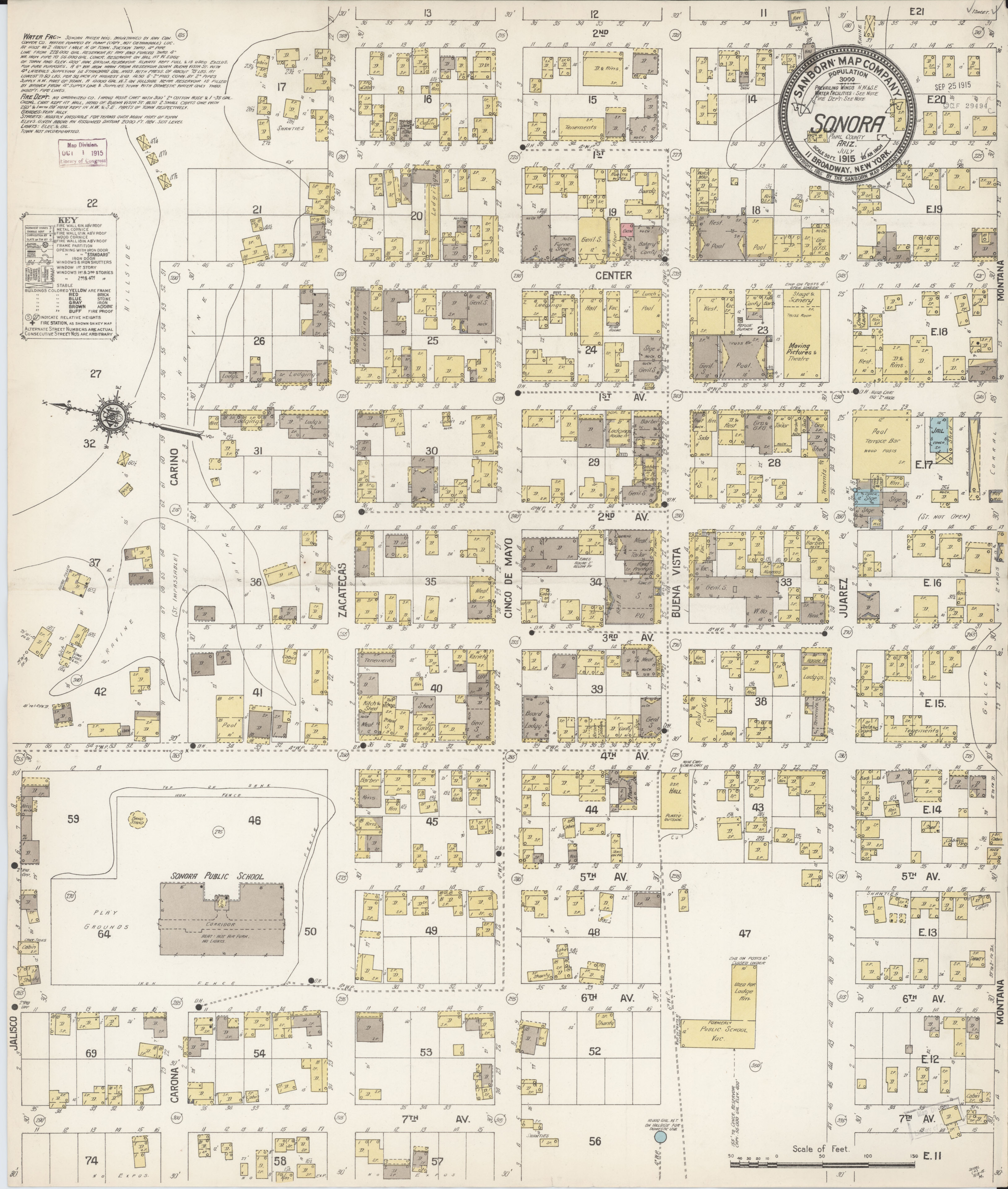 Sonora Arizona Map.File Sanborn Fire Insurance Map From Sonora Pinal County Arizona