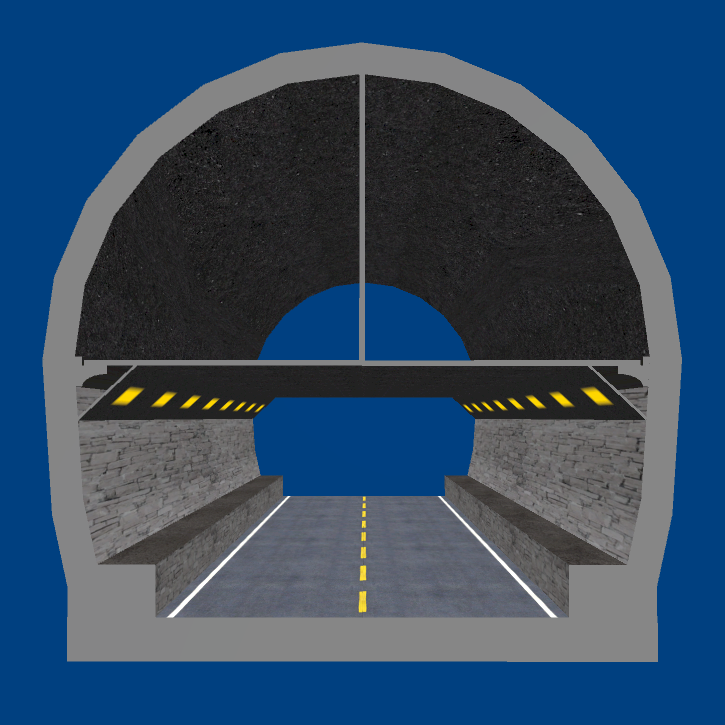 Sasago Tunnel(Chūō Expwy) 3D model 2