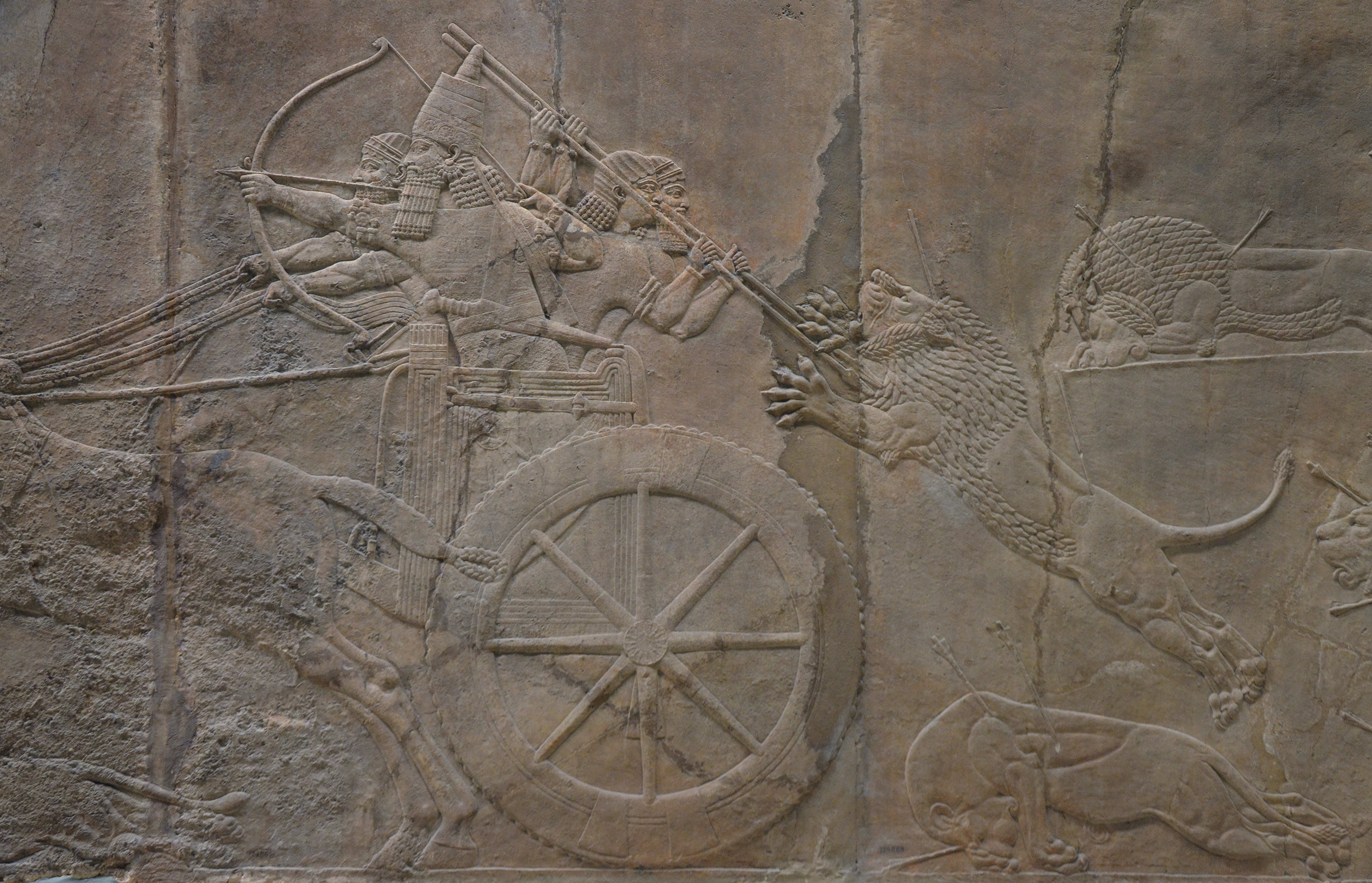 ashurbanipal hunting lions relief