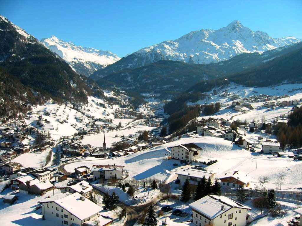 Ski Trail Map Ski Area Sölden Tirol Austria