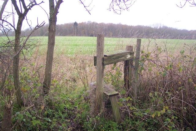 Stile opposite Benacre Wood - geograph.org.uk - 1605462