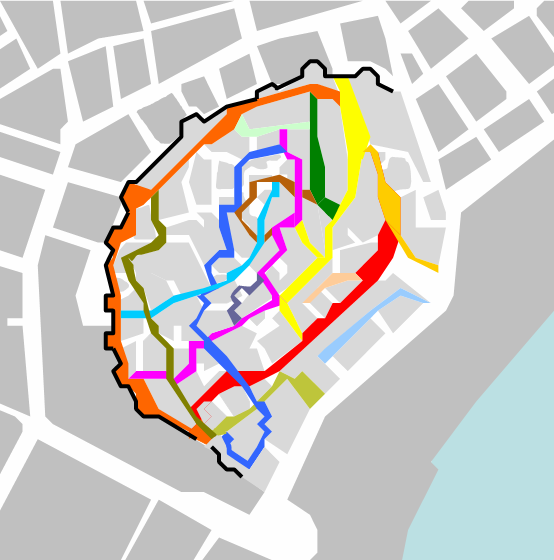 Streets in Ichery Sheher