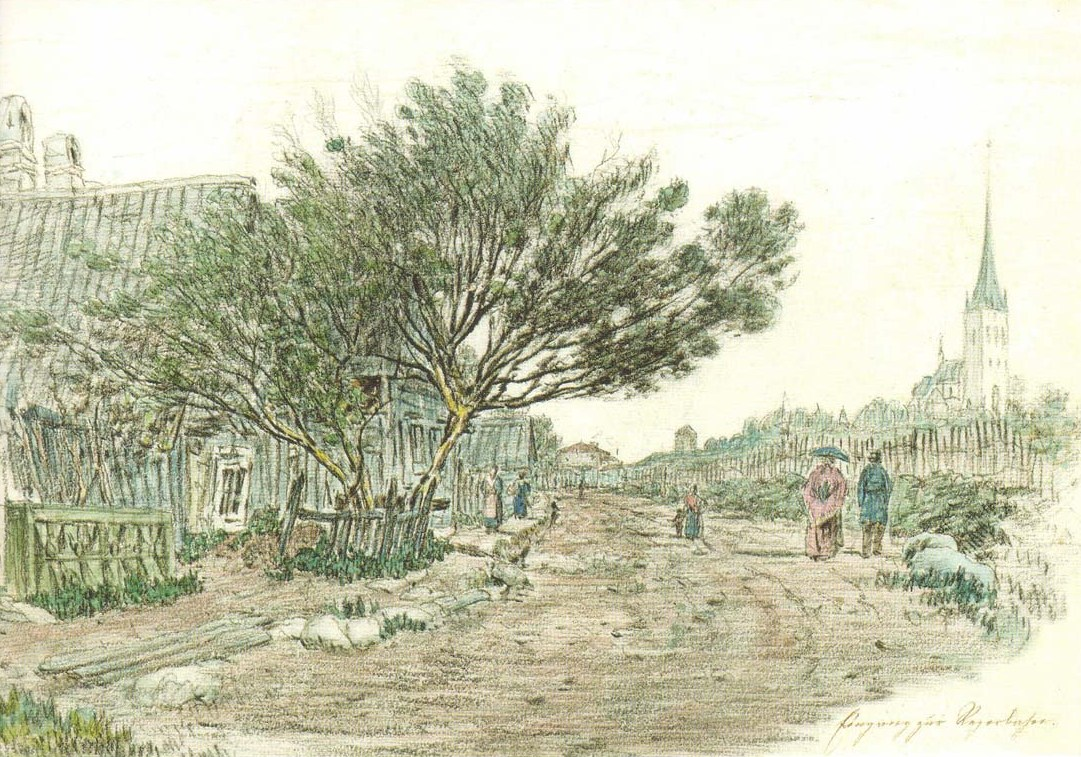 Quartier de Kalamaja à Tallin vers 1830.