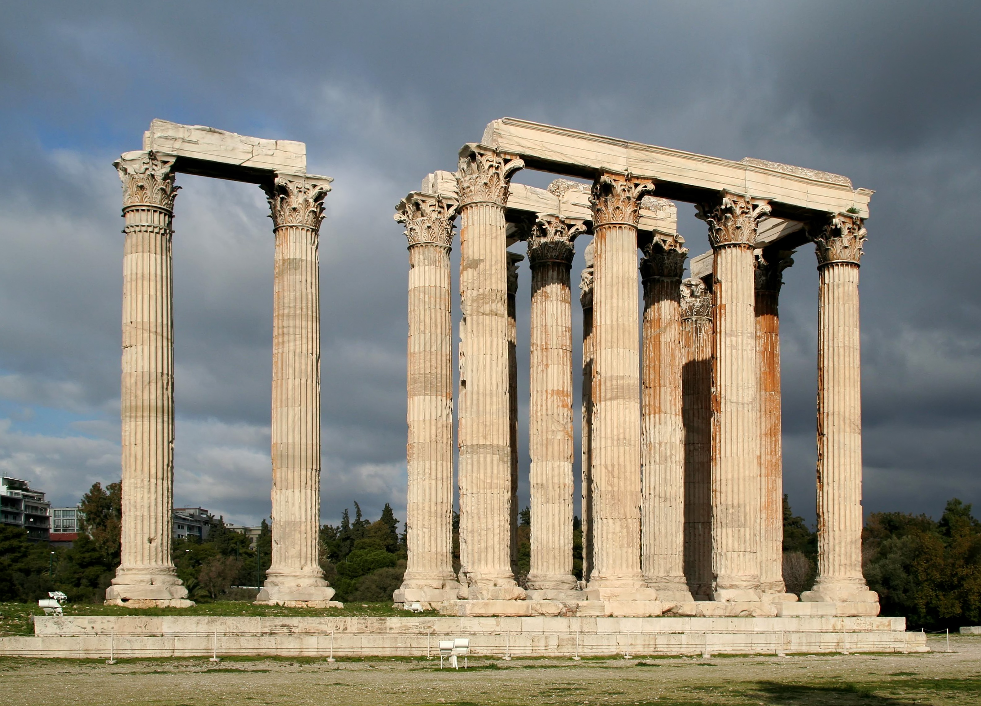 Zeus Architettura D Interni.Tempio Di Zeus Olimpio Wikipedia
