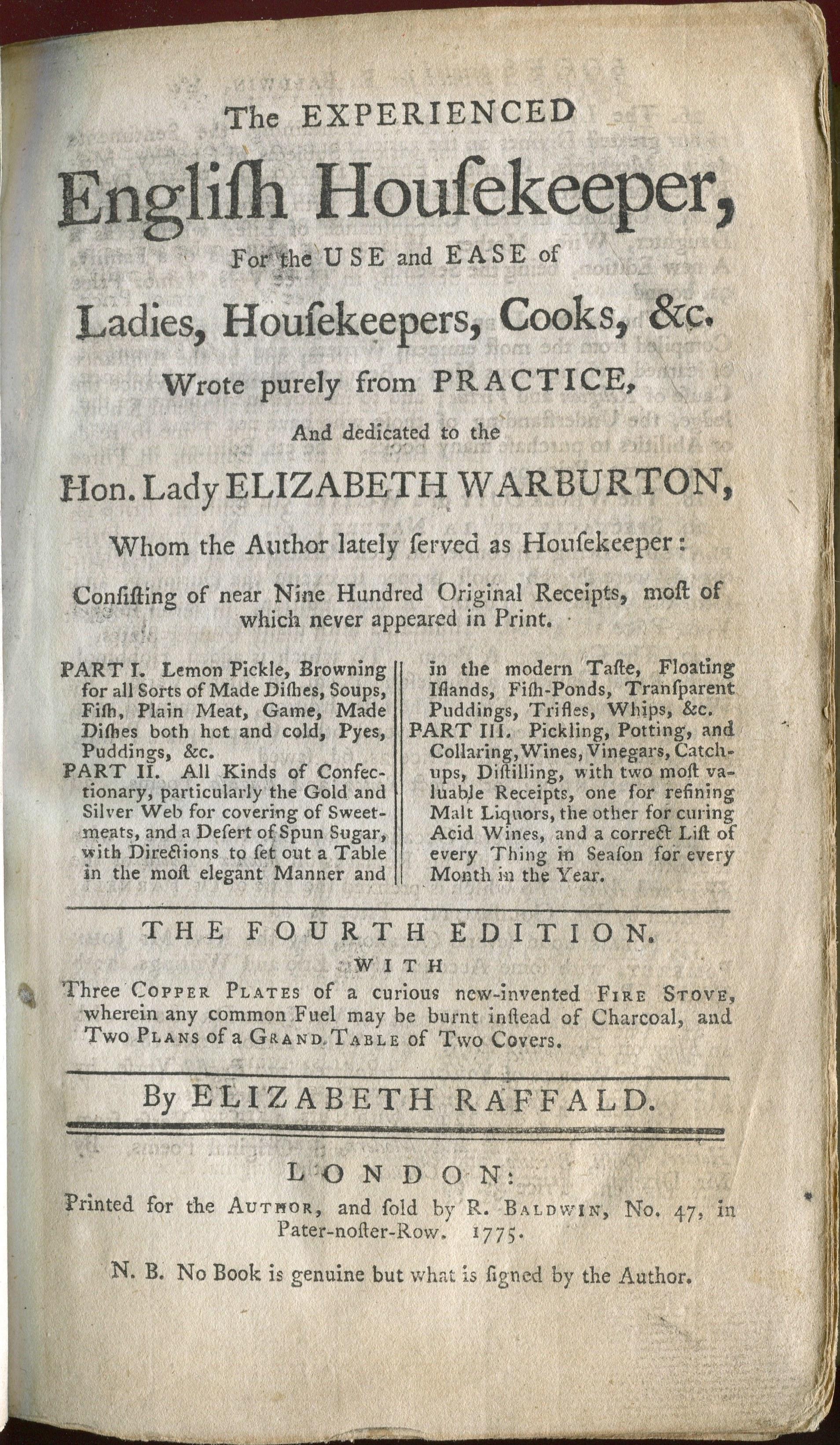 The Experienced English Housekeeper - Wikipedia