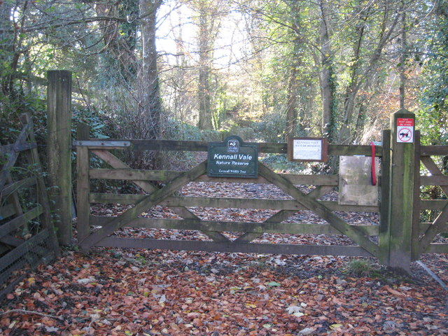 The entrance to Kennall Vale Nature Reserve - geograph.org.uk - 1051368