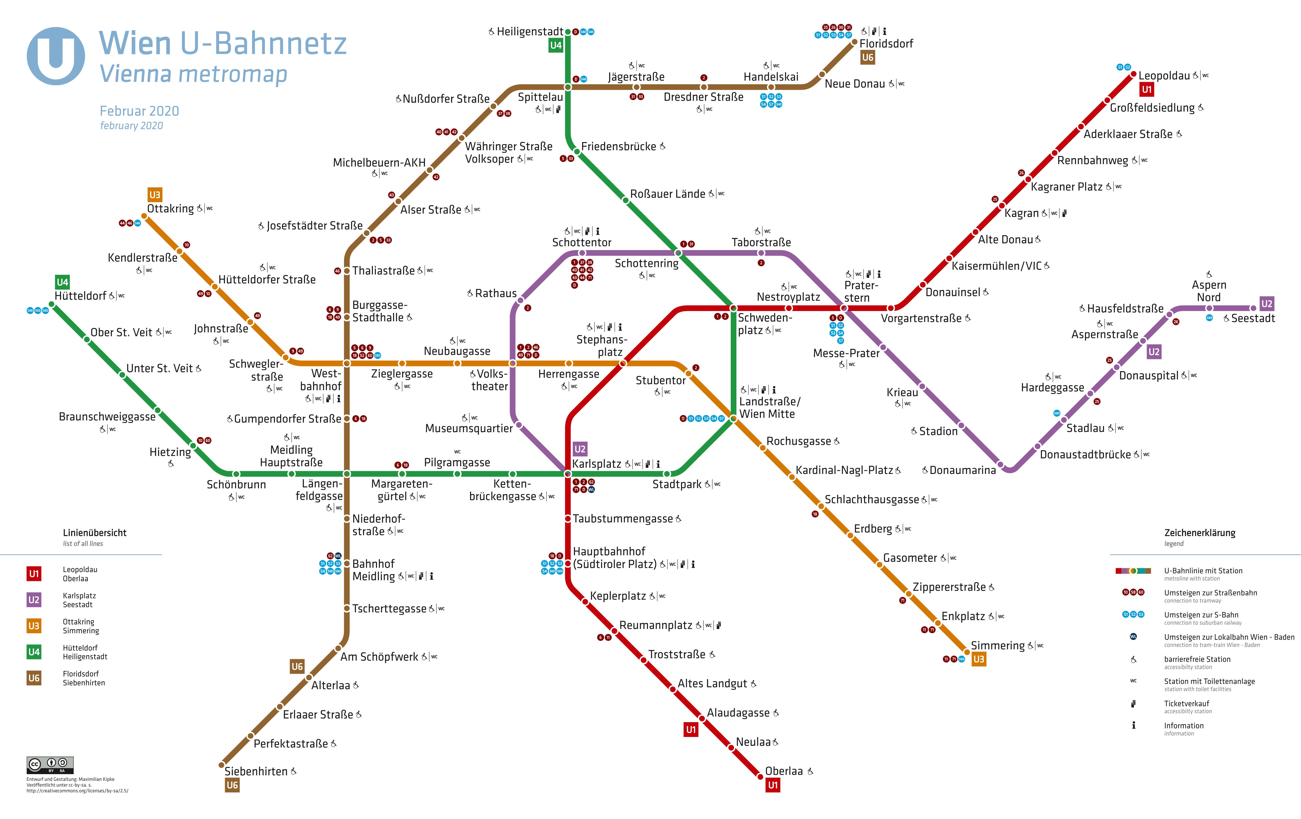 Wien Subway Map.List Of Vienna U Bahn Stations Wikipedia