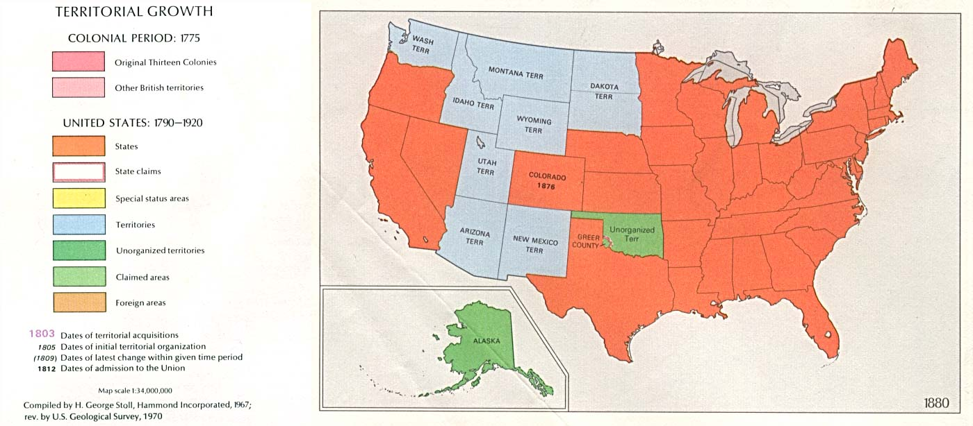 Resourcesforhistoryteachers USII - Detailed map of us during westward expansion