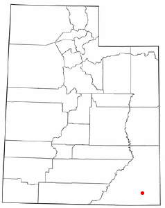 Location of Bluff, Utah