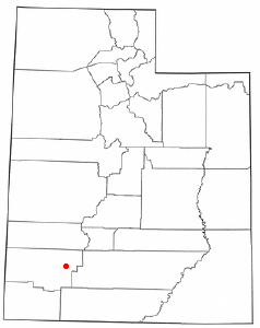 Location of Paragonah, Utah