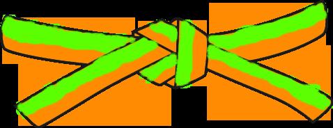 File:Universal Taekwondo UTD Mochi696 Orange Green belt.png