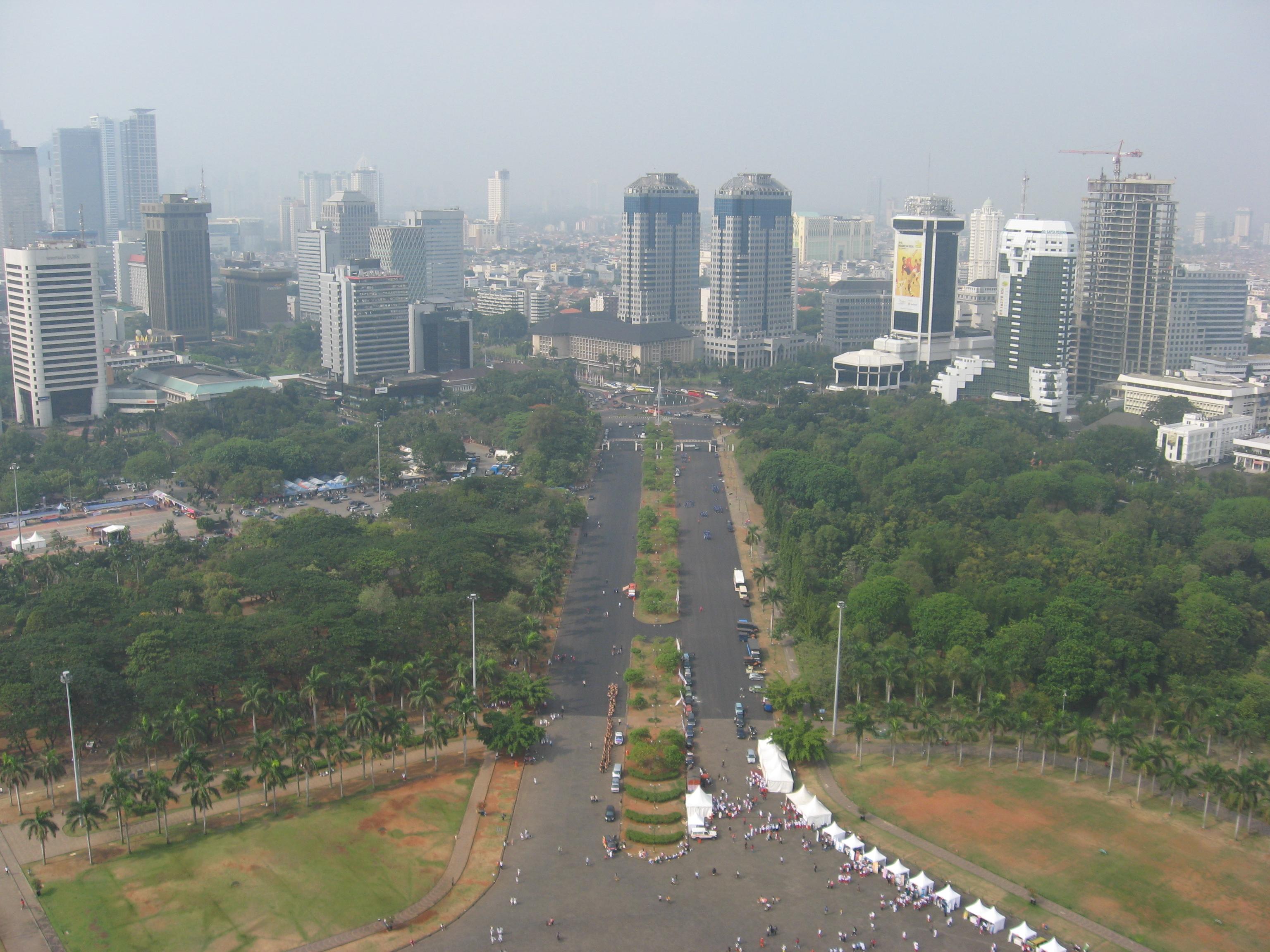 Monas Jakarta Wallpaper File:view of Jakarta From