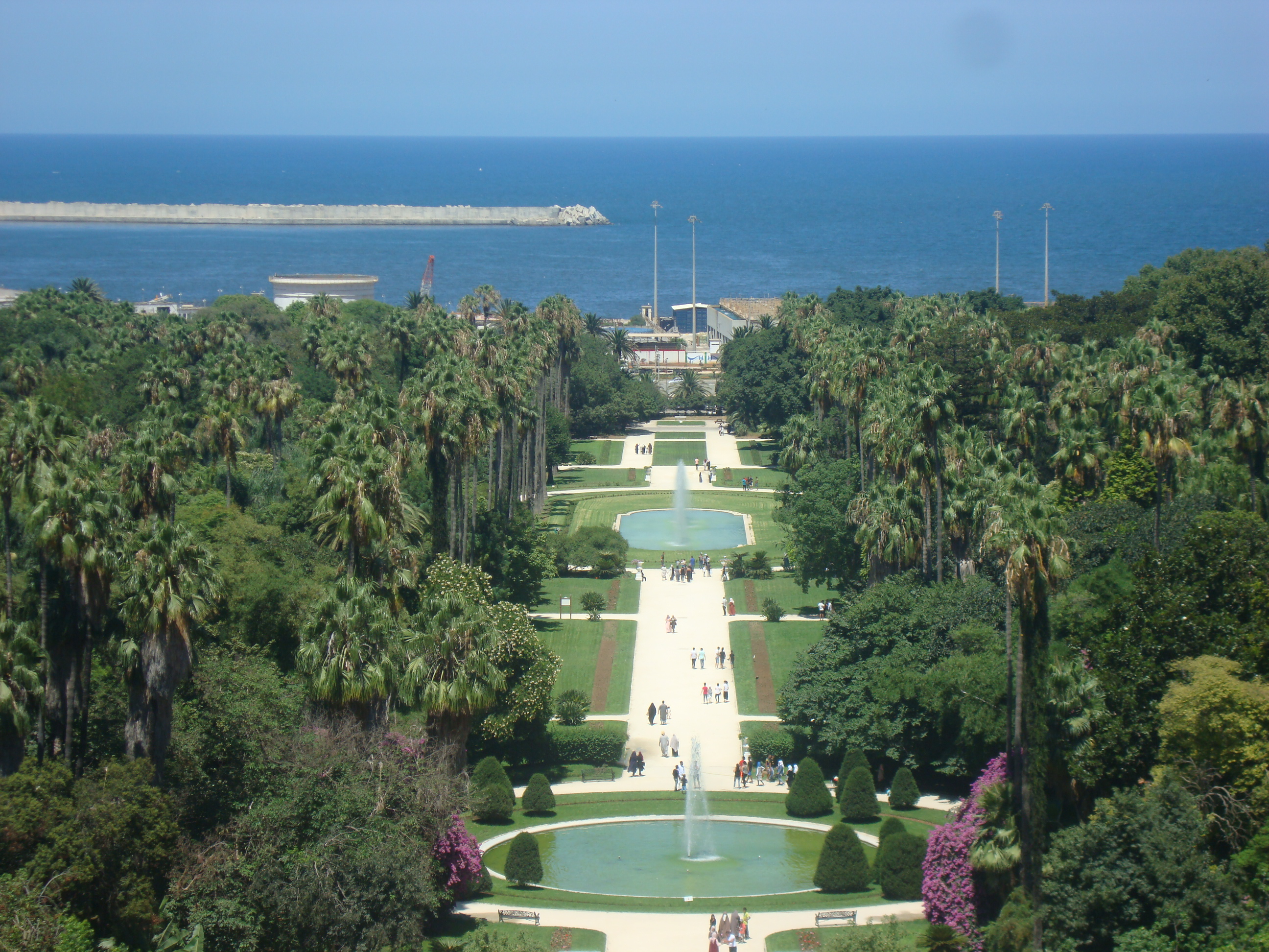 File:View Of The Botanical Garden El Hamma From The Fine Artsu0027 Museum.