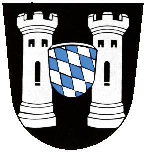 Das Wappen von Neustadt a.d.Donau