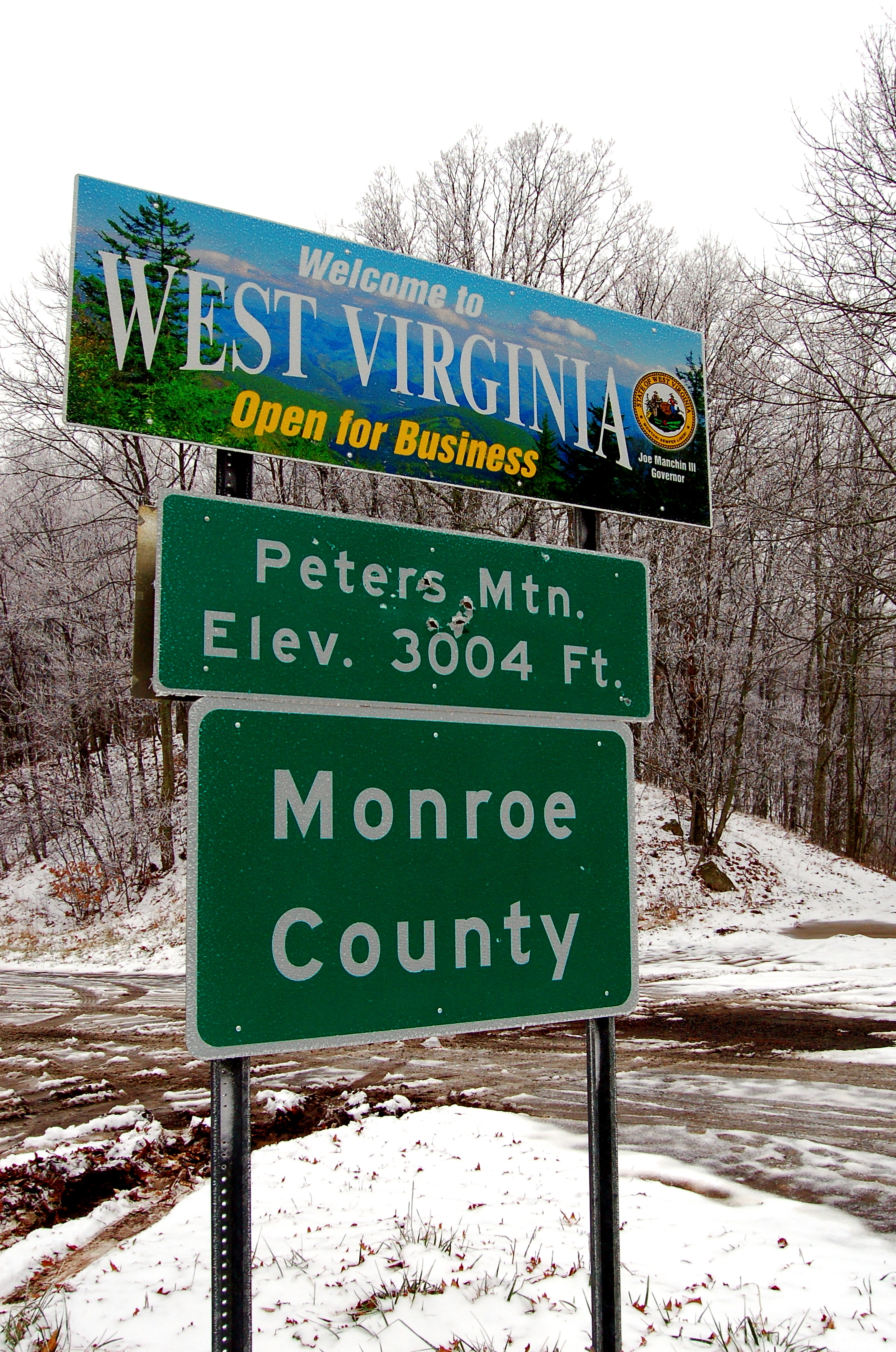 Virginia Welcome Sign