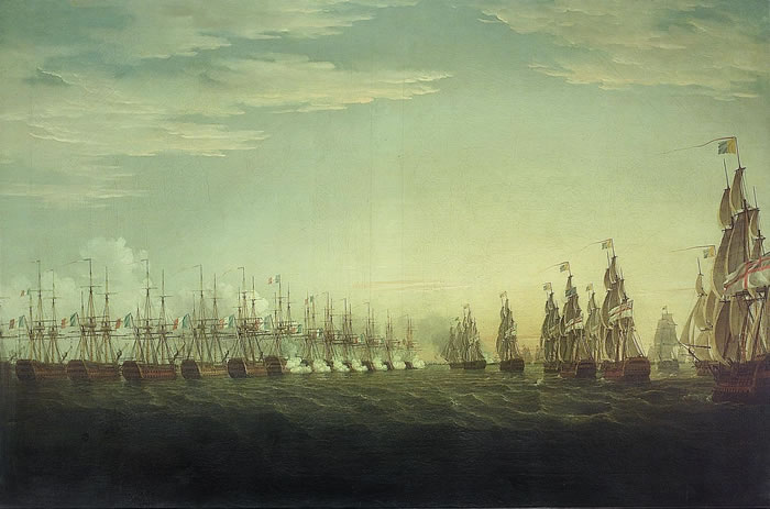 File:Whitcombe - Battle of the Nile- start of the battle.jpg