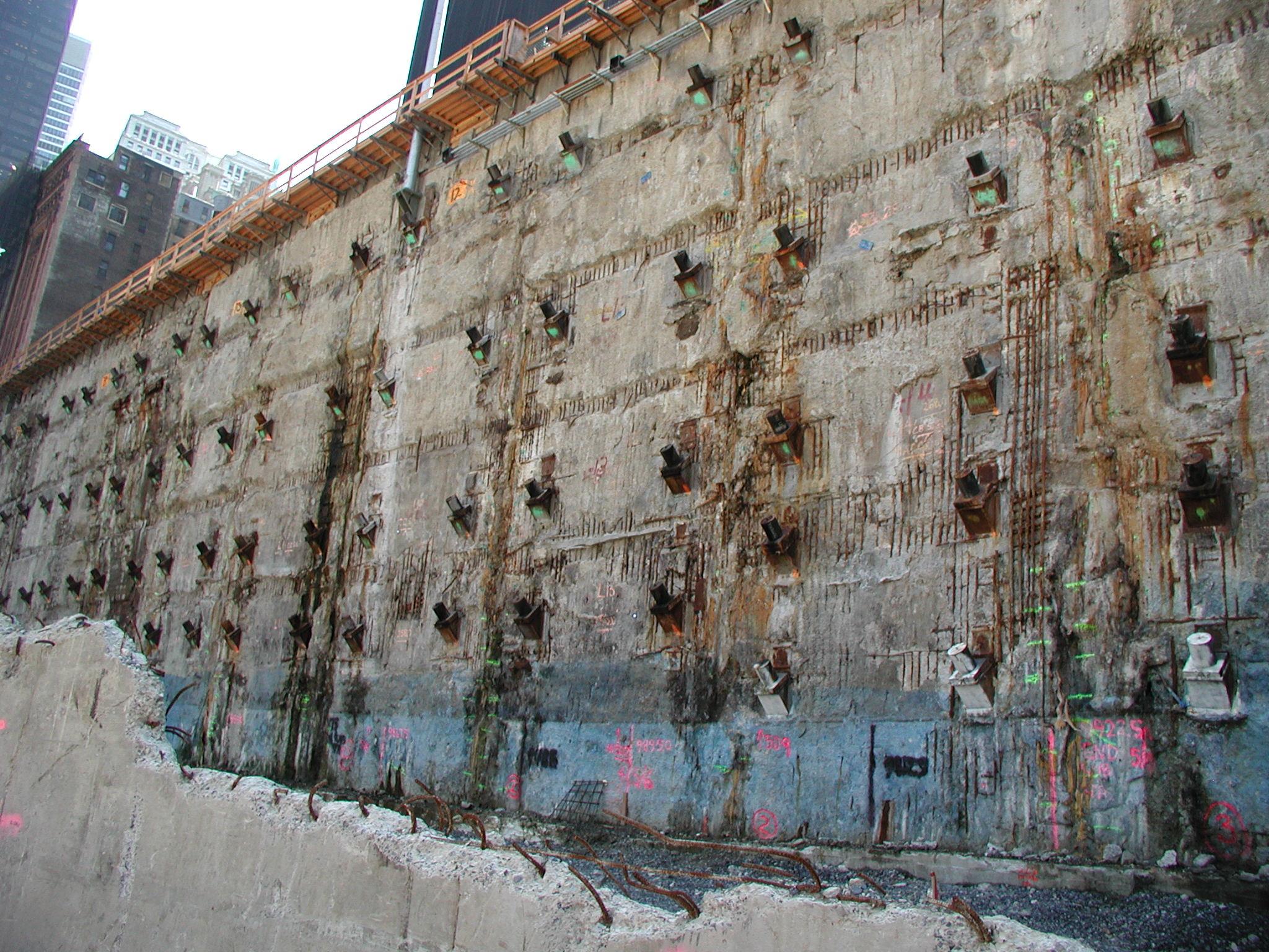 Slurry Wall Construction : File world trade center slurry wall eric ascalon