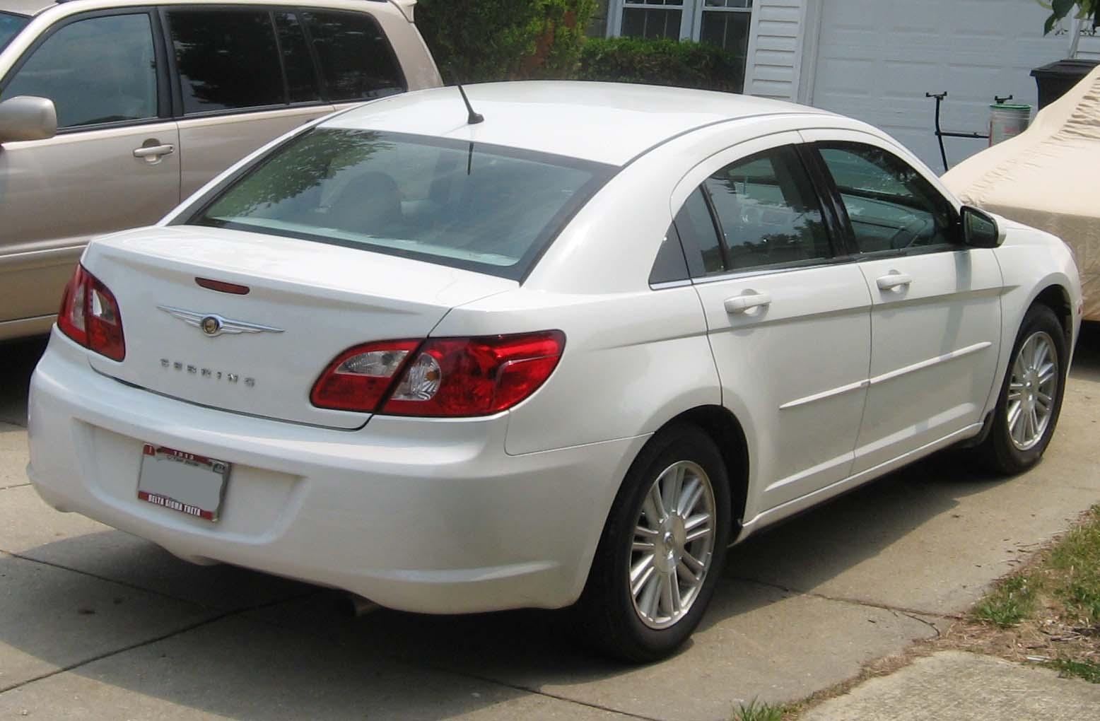 File 07 Chrysler Sebring Sedan Rear Jpg