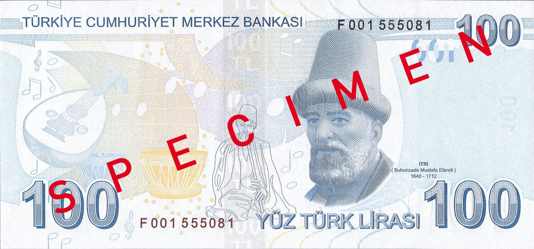 100 турецких лир