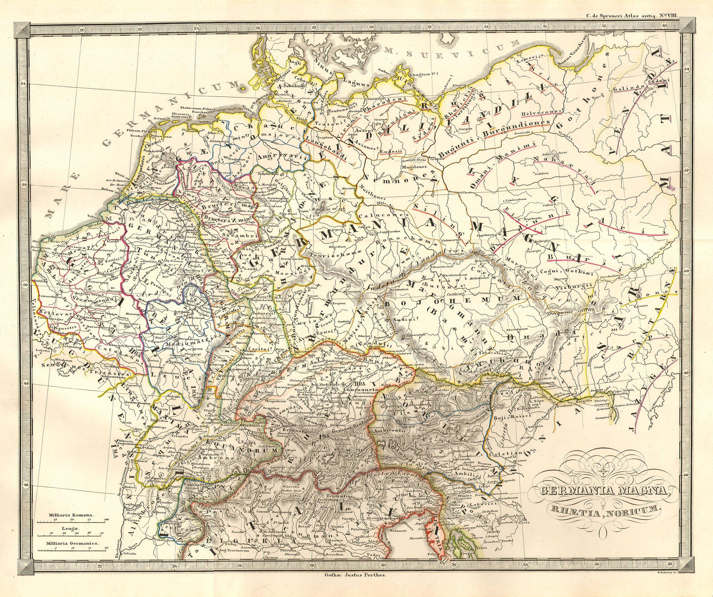 Map Of Germany Jpg.File 1855 Spruneri Map Of Germany Or Germania Magna In Ancient Times