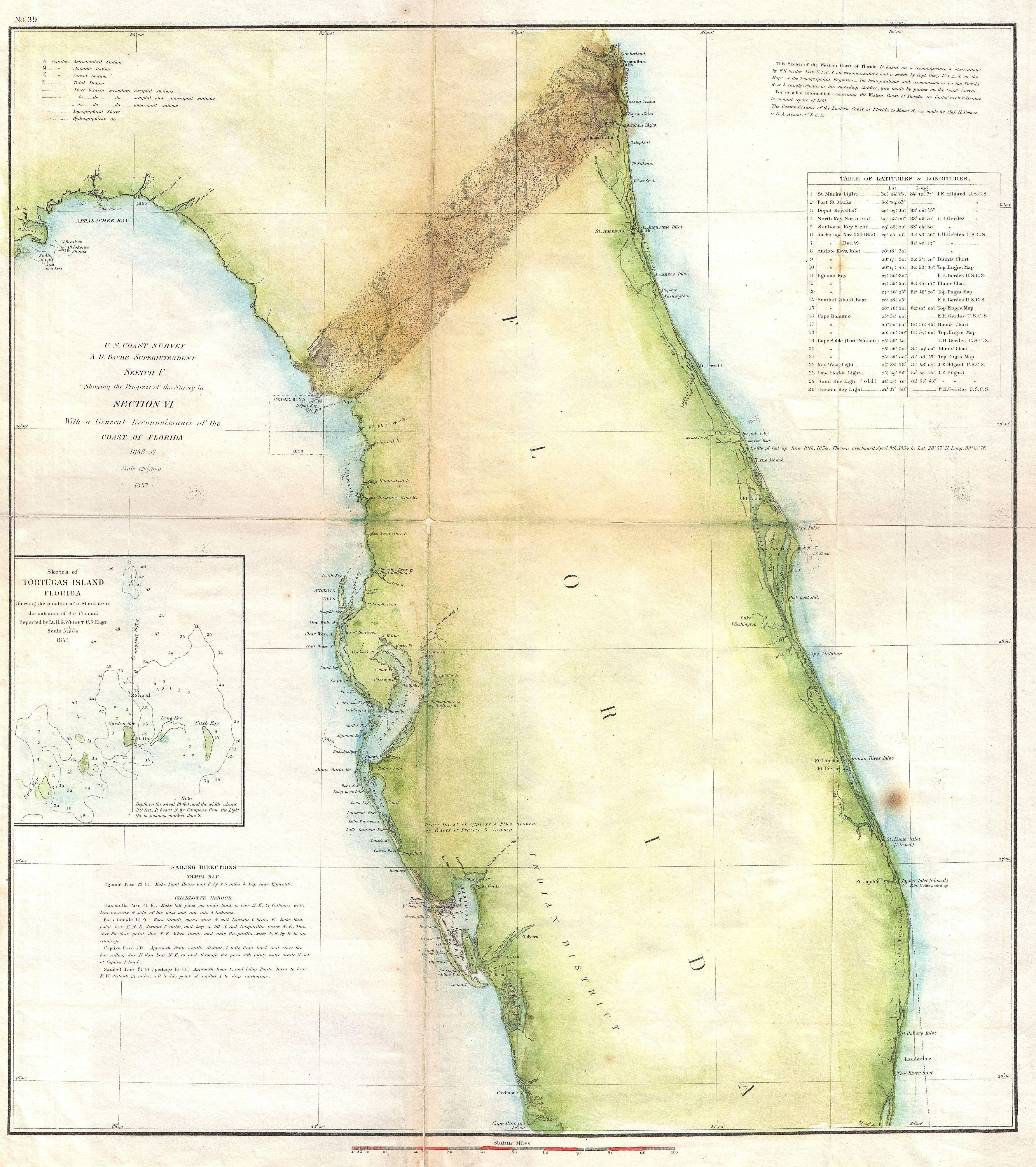 File US Coast Survey Map Of Florida Geographicus - Us 19 florida map