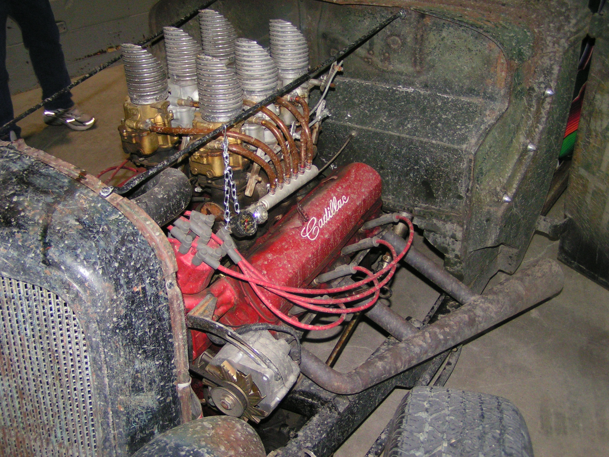 file:1938 ford truck - cadillac 429 v8 - velocity stacks (2332160548) jpg