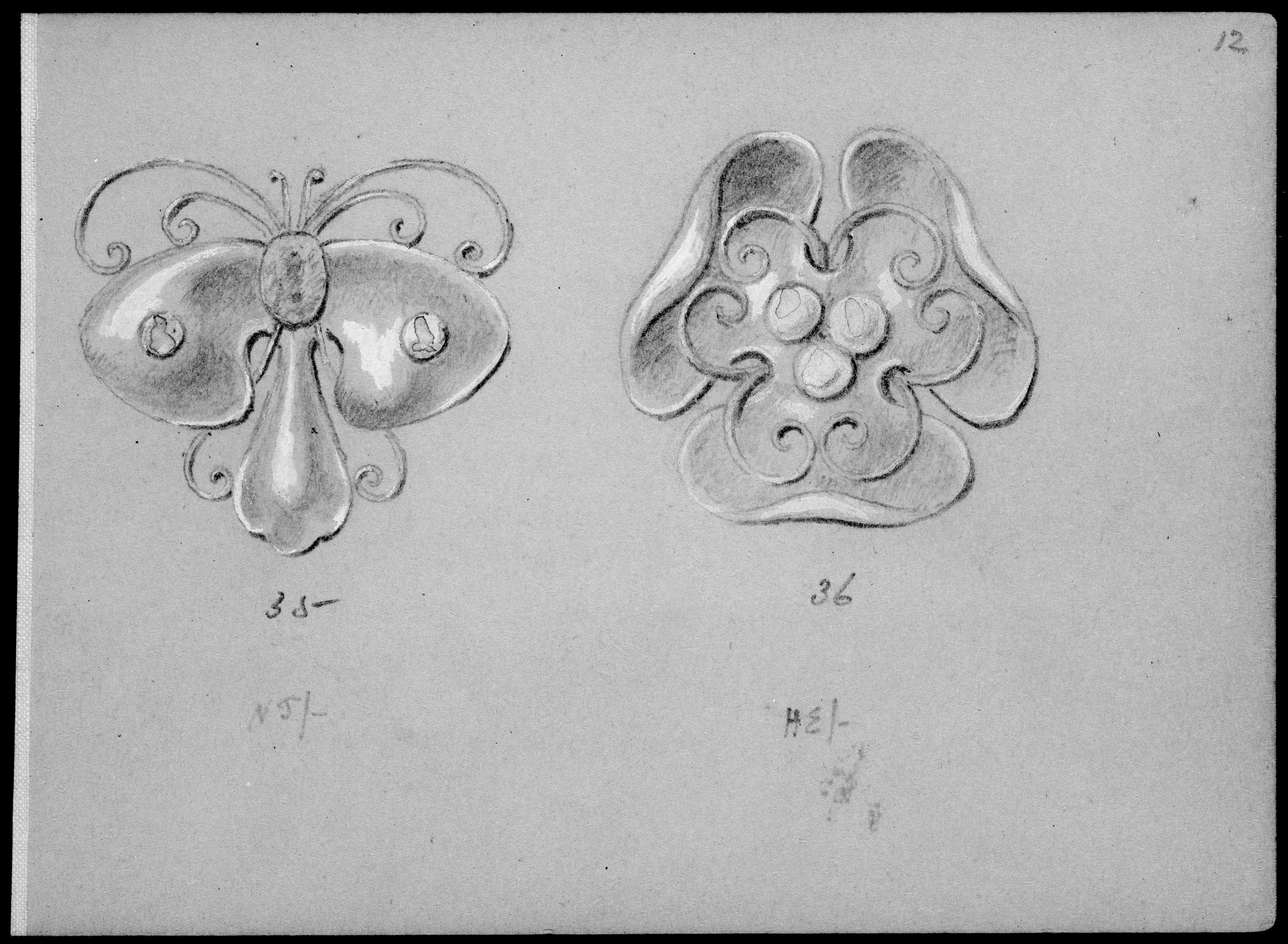 file album with designs for art nouveau jewelry met mm44776 jpg