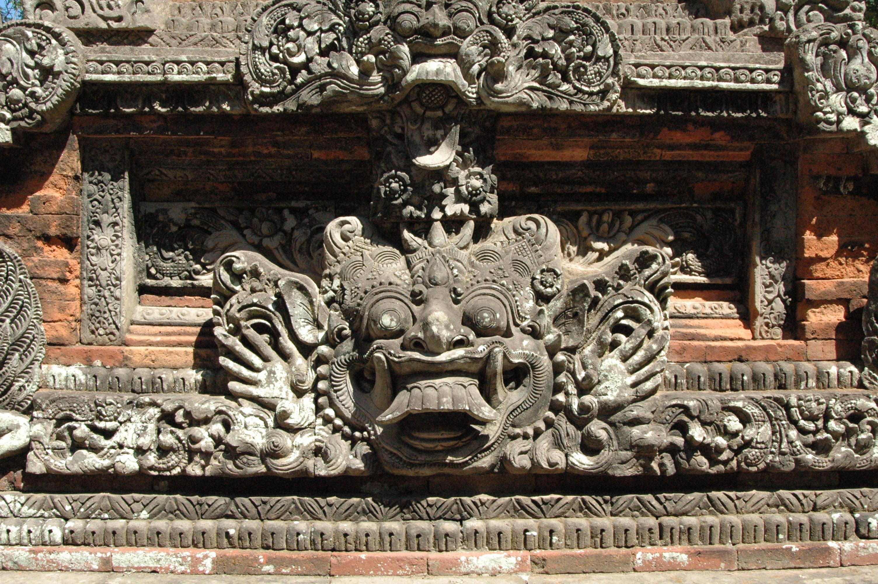 File bali stone face g wikimedia commons