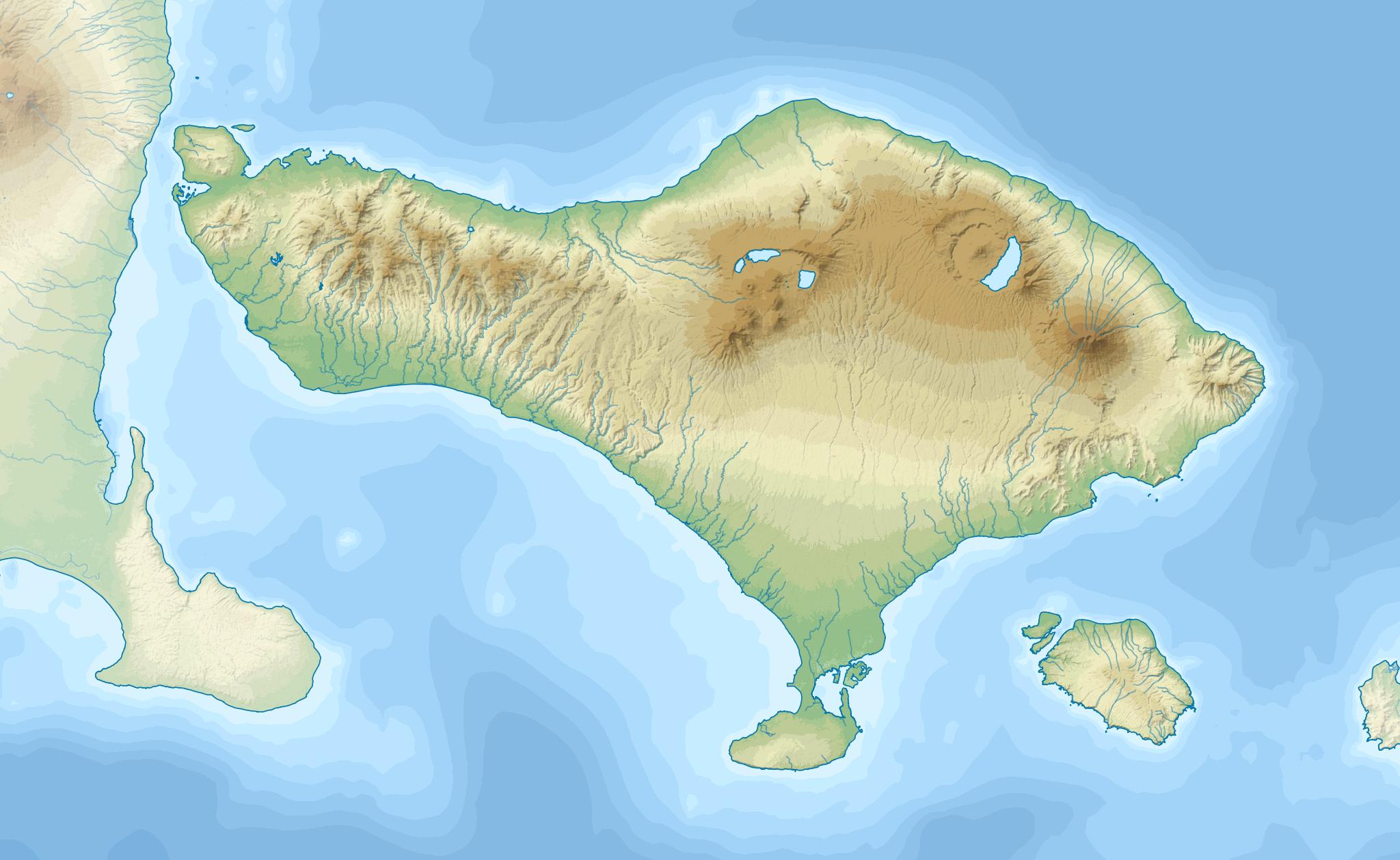 File Bali Topography Plain Png Wikimedia Commons