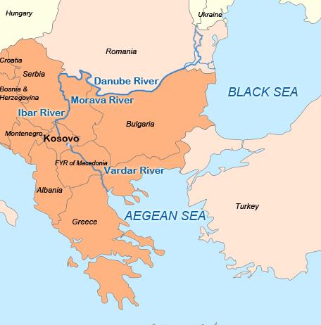 Nerodimka River Wikiwand - Danube river location on world map