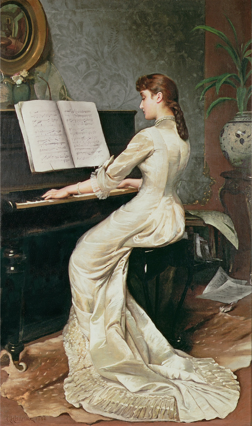 Música y pintura Barrable%2C_George_Hamilton_-_A_Song_Without_Words_-_1888