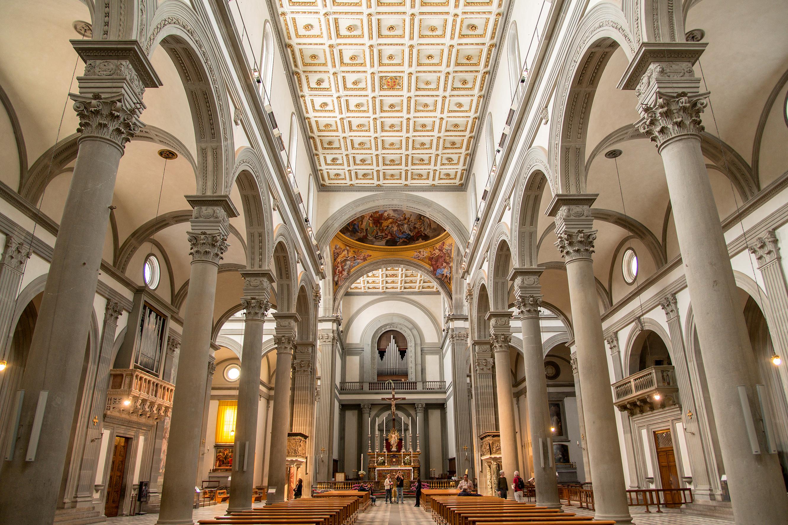 San lorenzo for Interior iglesia san lorenzo brunelleschi