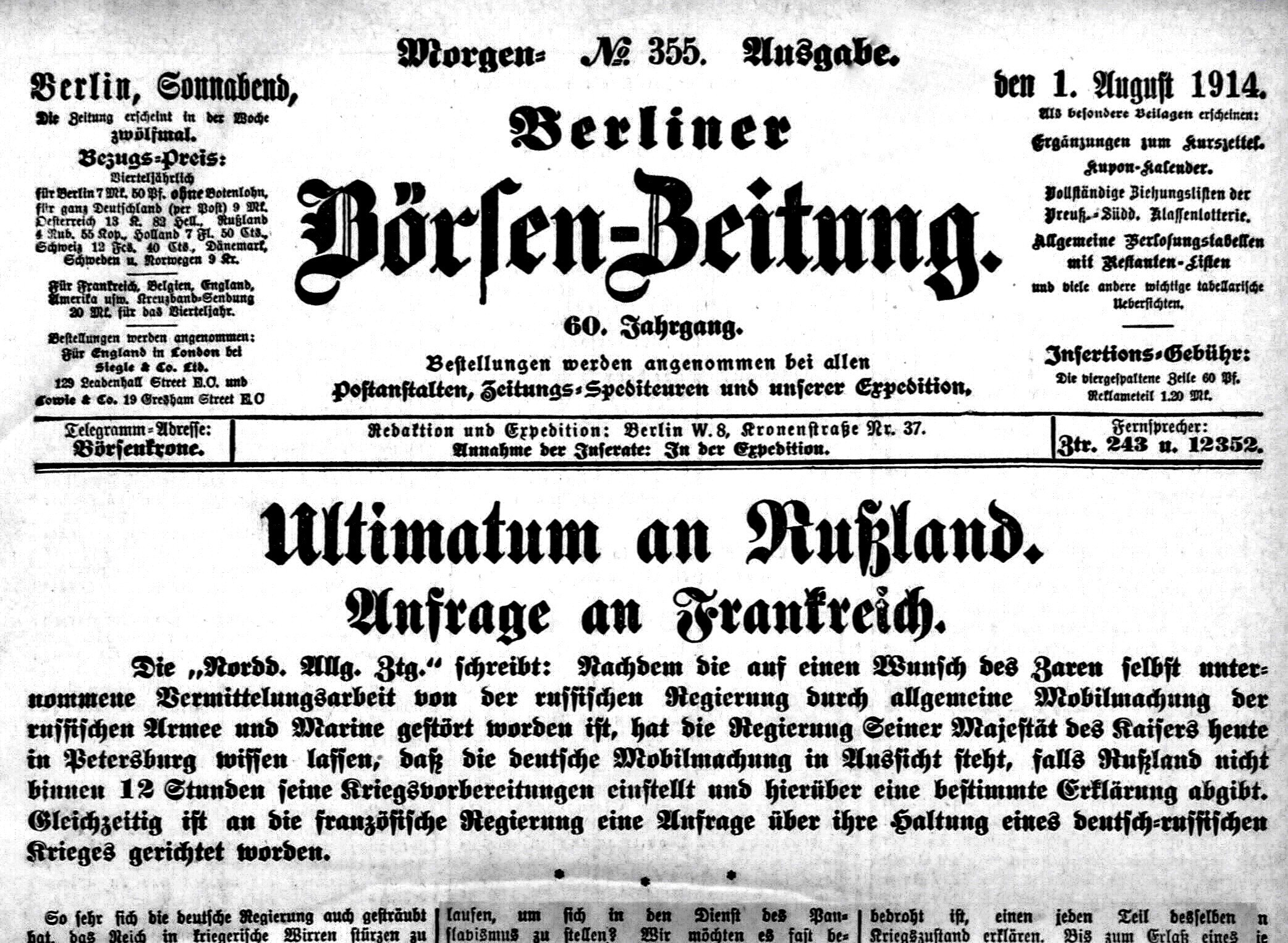File Berliner Boersenzeitung No355 1 Aug 1914 Png Wikimedia Commons