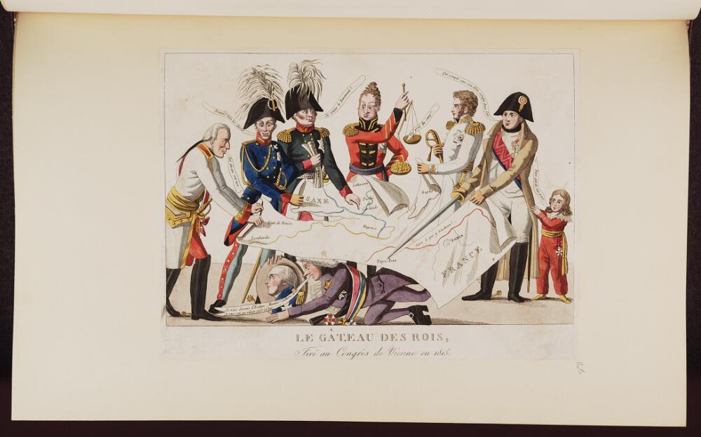 File:Bodleian Libraries, Le gâteau des rois, tiré au Congrès de Vienne en 1815- Napoleon ...