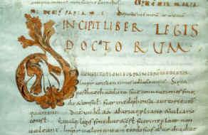 Manuscrit du Bréviaire d'Alaric conservé à Université de Clermont-Ferrand, Xe siècle