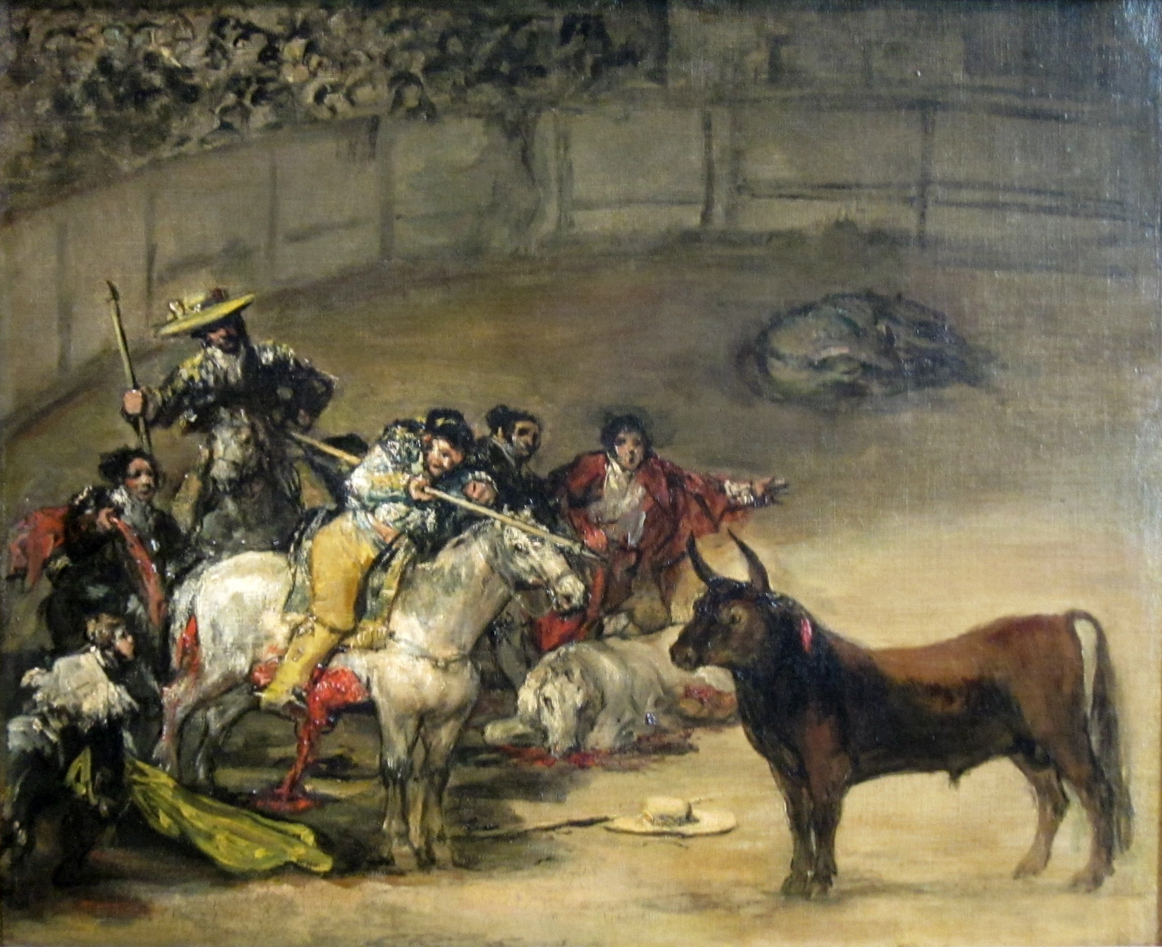 File:Bullfight, Suerte de Varas by Francisco de Goya, 1824, Getty Center
