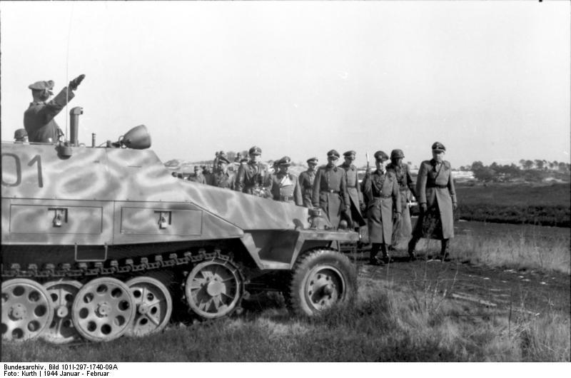 Von Rundstedt inspects the  12th SS-Panzer-Division