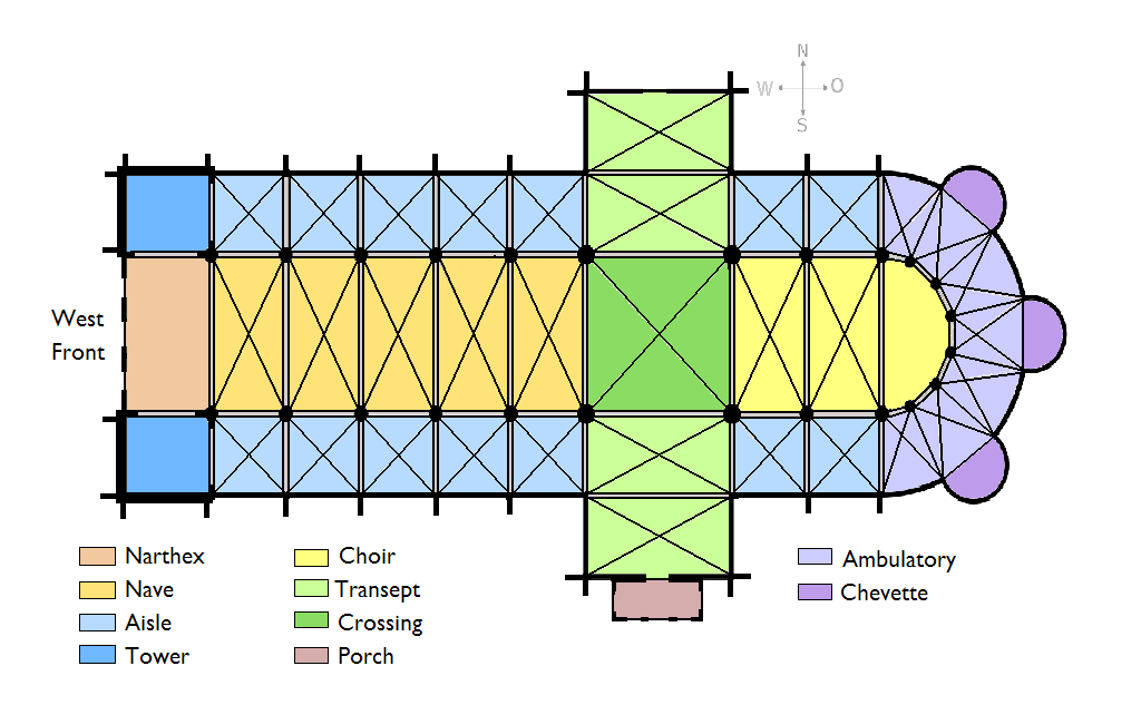 File cathedral schematic plan png wikimedia commons - Chevet architectuur ...
