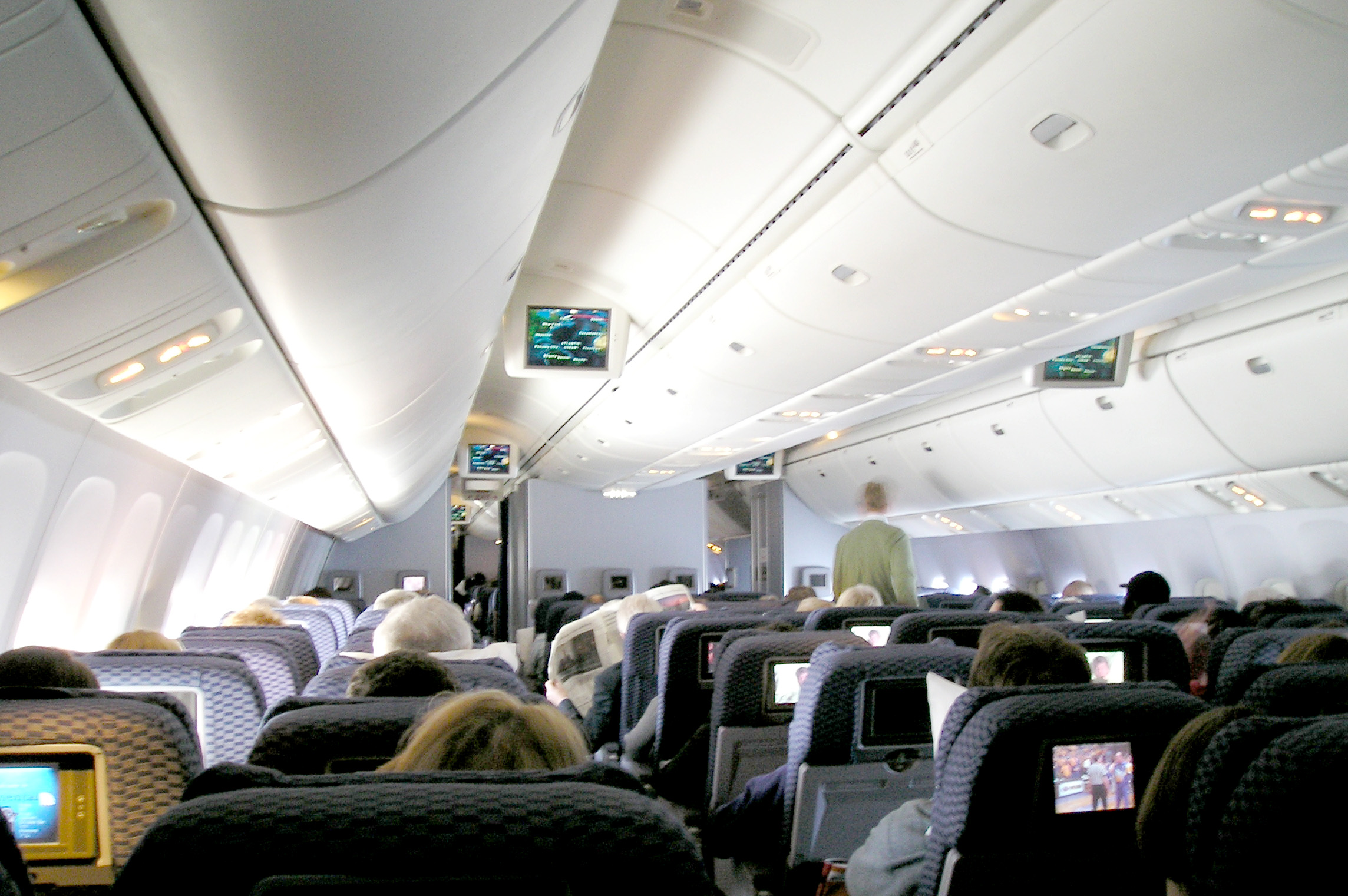 File Continental Airlines 767 400er Economy Cabin Jpg