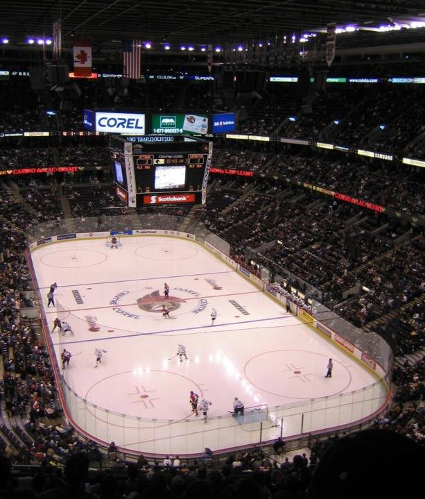 Beschreibung corel centre eishockey