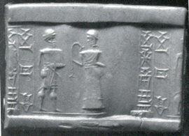 Cylinder seal,ca. 16th–15th century BC Mitanni