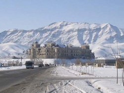 The famous Darul Aman Palace, built under King Amanullah Khan as part of an incompleted new capital city