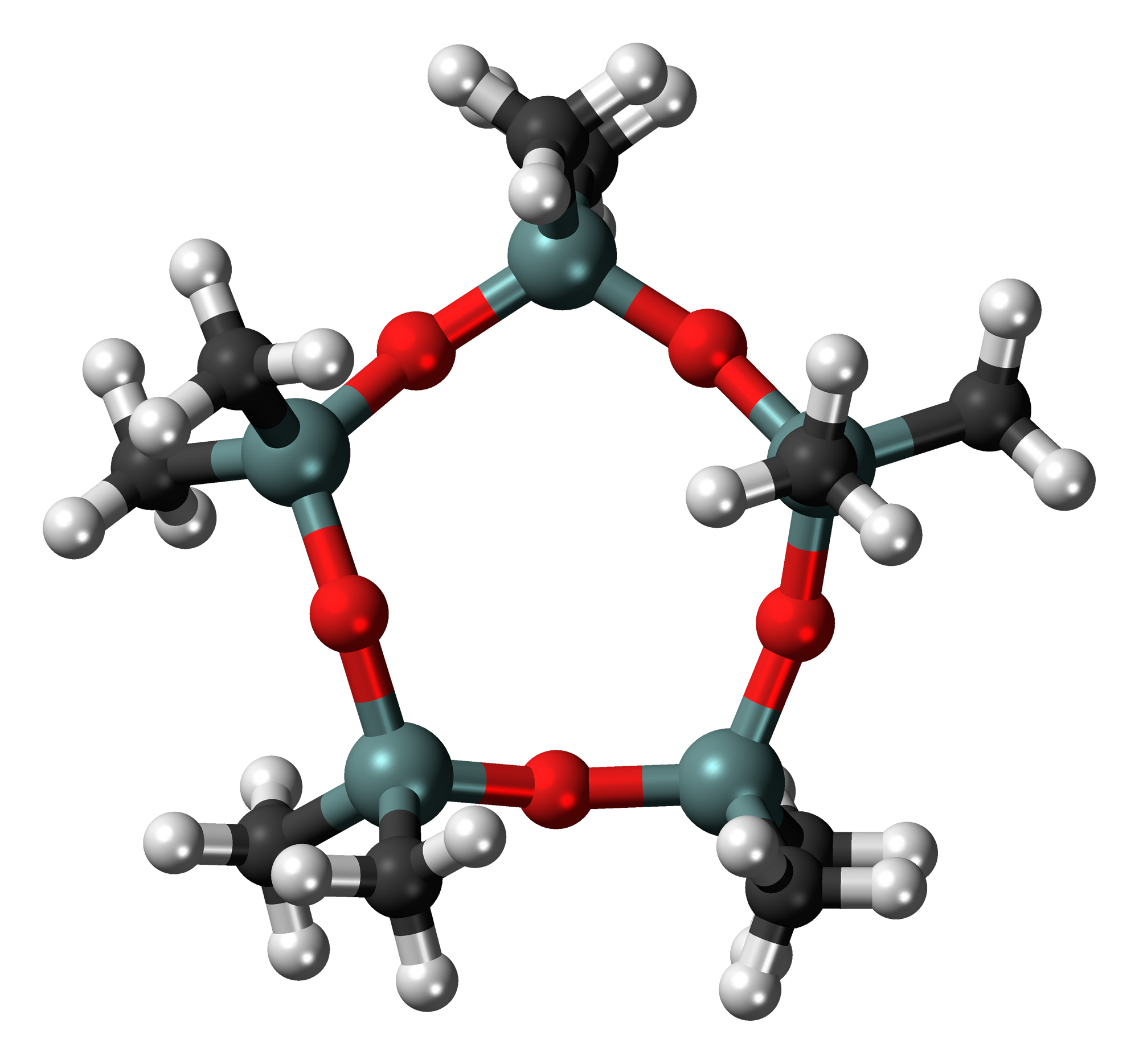 Cyclopentasiloxane structure