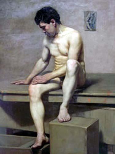 Joven Dios Gay arte masculino Art Nude Photo Print
